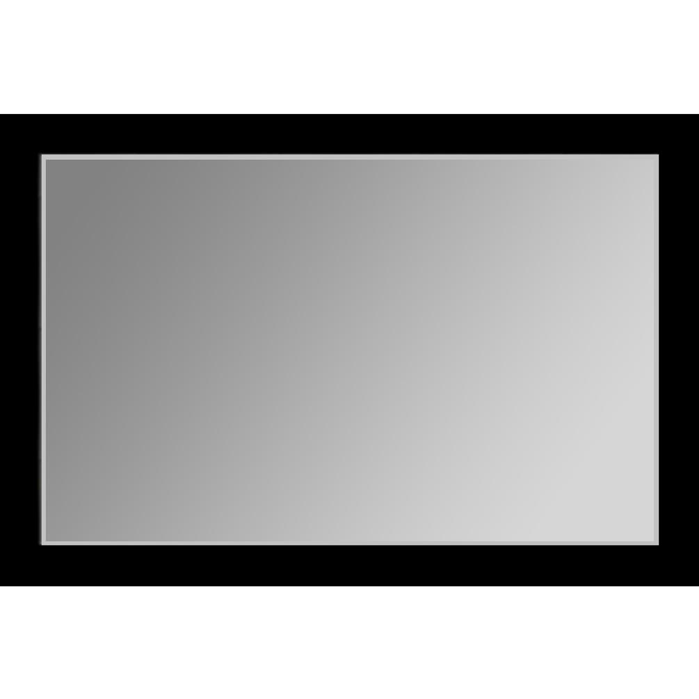 V 1001 Vanity Mirror 36 X 48 Flat Black Frame 2 Inch
