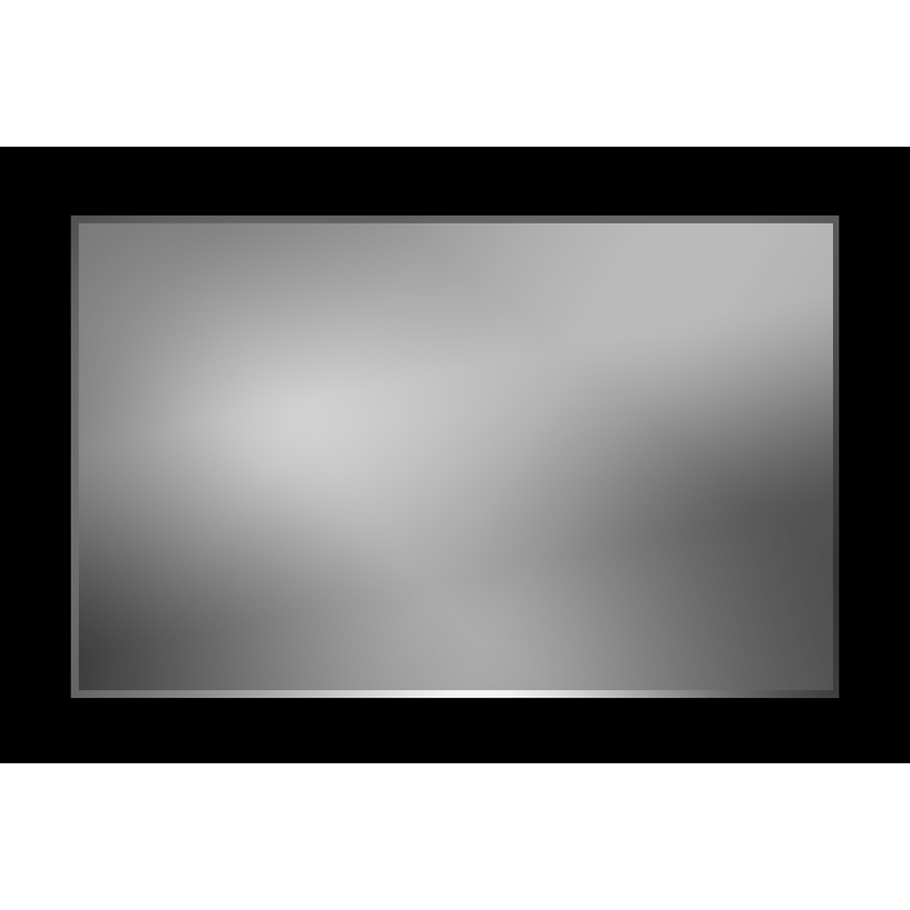 V 1011 Vanity Mirror 36 X 48 Flat Black Frame 3 Inch