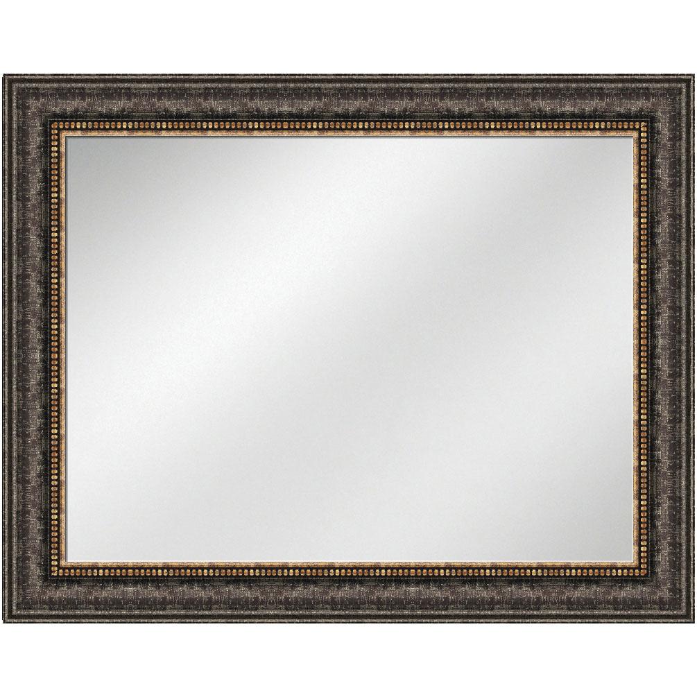 V 1384 Black Frame 36 X 48 Vanity Mirror 4 3 8 Inch Width