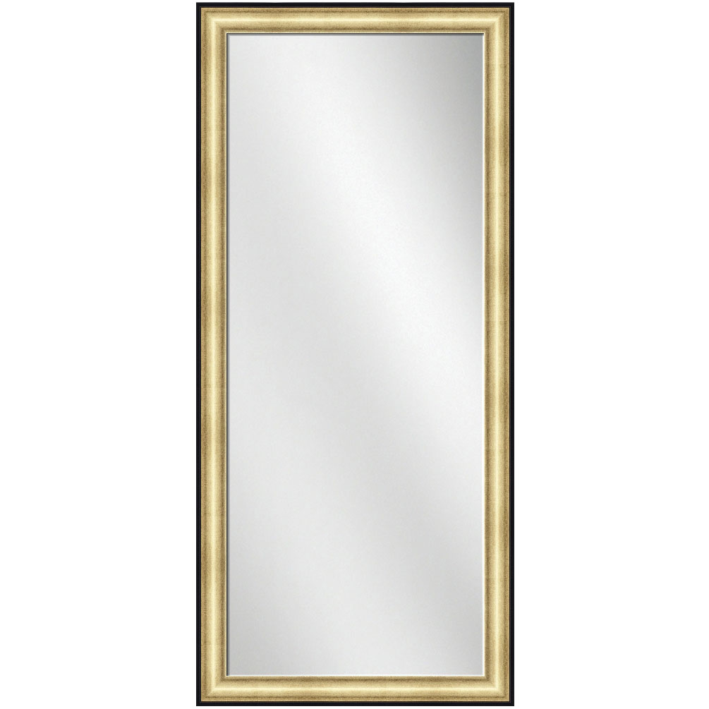 F 1640 gold w black line frame 24 x 60 full length mirror for 60 inch framed mirror
