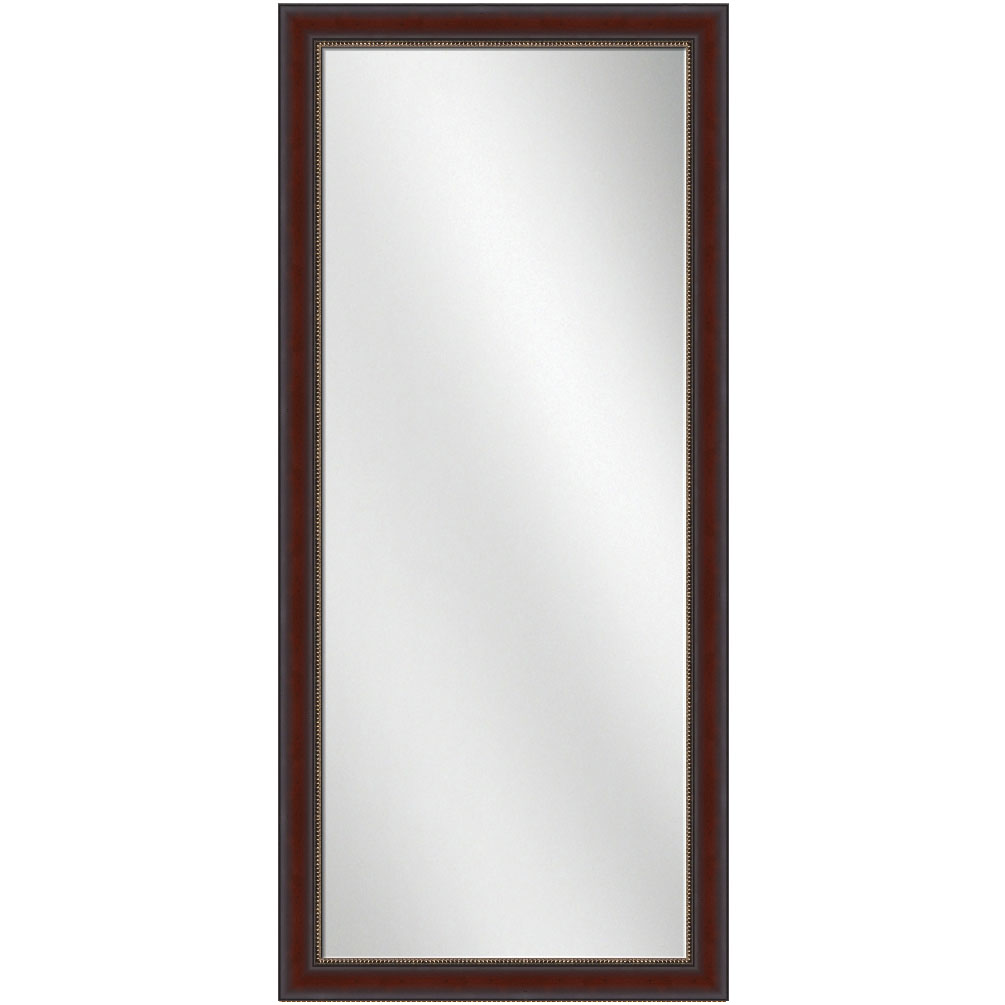F 1624 Mahogany Frame 24 X 60 Full Length Mirror 2 7 8