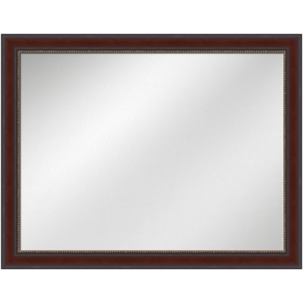 V-1124 Mahogany Frame 36 x 48 Vanity Mirror 2 7/8 inch Width ...