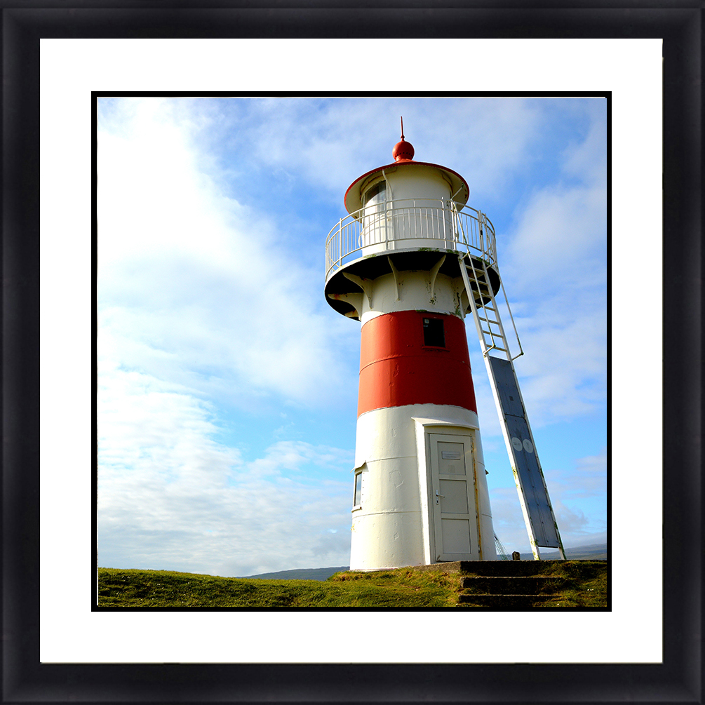 LH-5804 Lighthouse Seascape 30 x 30 Framed Available In