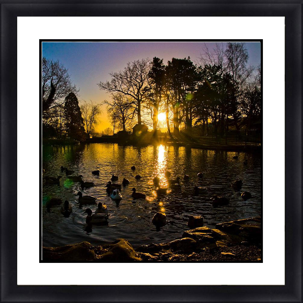 C-27100 Sunset Sunrise Seascape 30 x 30 Framed Available